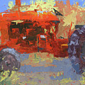 Abstract Red Tractor by David King