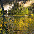 Abstract River Reflection by Bob Phillips