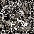 Abstract Rock 3d Art  Huge Stone Mount Made Of Alphabet Soup by Navin Joshi