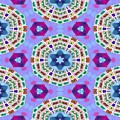 Abstract Seamless Pattern  - Blue Purple Pink Violet Lilac Orange Green by Lenka Rottova