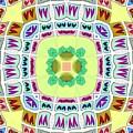 Abstract Seamless Pattern  - Yellow Green Blue Purple White Gray by Lenka Rottova