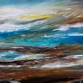 Abstract Seascape by Patricia L Davidson