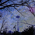 Abstract Space Needle by Maro Kentros