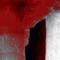 Abstract Square Red Black White Grey Textured Window Alcove 2a by Sue Jacobi