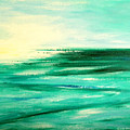 Abstract Sunset In Blue And Green by Gina De Gorna