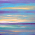 Abstract Sunset In Purple Blue And Yellow by Gina De Gorna
