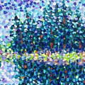 Abstract Trees Impressionist Painting by Cristina Stefan