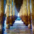 Abstract Under Pier Beach by Anthony Fishburne