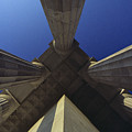 Abstract View Of Columns Of Lincoln by Kenneth Garrett