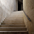 Abstract View Of Stone Curved Staircase At The World War I Monum by Reimar Gaertner