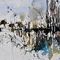 Abstract Watercolor 012130 by Pol Ledent