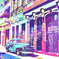 Abstract Watercolor - Havana Cuba Classic Car I by Chris Andruskiewicz