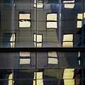 Abstract Window Reflections - Nyc by Dave Gordon