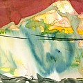 Abstract With A Boat by Makarand Joshi