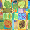 Abstract With Leaves by Jennifer Baird