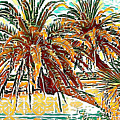 Abstracted Loop Palms by Alice Gipson