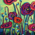 Abstracted Poppies by David Hinds
