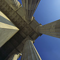 Abstrat View Of Columns At Lincoln by Kenneth Garrett