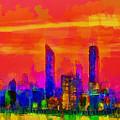 Abu Dhabi Skyline - Da by Leonardo Digenio