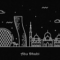 Abu Dhabi Skyline Travel Poster by Inspirowl Design