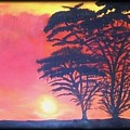 Acacias At Masai Mara by Claudia Lamprea