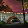 Acadia Carriage Bridge Under The Stars by Jesse MacDonald