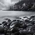 Acadia Radiance - Black And White by T-S Fine Art Landscape Photography