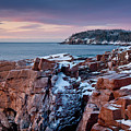 Acadian Cliffs Winter Sunrise 1 by Susan Cole Kelly