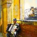 Accordeonist In Florence In Italy by Miki De Goodaboom