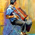 Accordian Player by Gail Zavala
