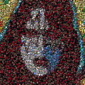 Ace Frehley Poker Chip Mosaic by Paul Van Scott