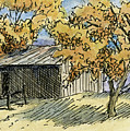 Aceo No 2 Rural Autumn Landscape by David King