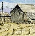 Aceo No 3 Two Barns by David King