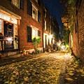 Acorn Street Autumn Boston Mass Painterly by Toby McGuire