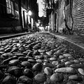Acorn Street Cobblestone Detail Boston Ma Black And White by Toby McGuire