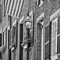 Acorn Street Details Bw by Susan Candelario