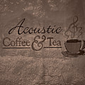 Acoustic Coffee And Tea Signage - 3w by Greg Jackson