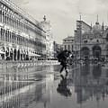 Acqua Alta, Piazza San Marco, Venice, Italy by Richard Goodrich