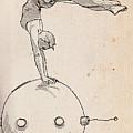Acrobat On Robot by H James Hoff
