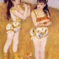 Acrobats At The Cirque Fernando Francisca And Angelina Wartenberg 1879 by Renoir PierreAuguste
