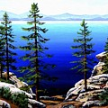 Across Lake Tahoe by Frank Wilson