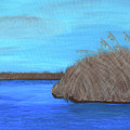 Acrylic Mississippi Marsh by Kathy K McClellan