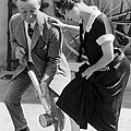 Actress Gets Feet Sprayed by Underwood Archives