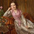 Actress Therese Krones by Ferdinand Georg Waldmuller