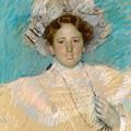 Adaline Havemeyer In A White Hat by Mary Stevenson Cassatt
