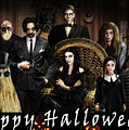Addams Halloween Greeting Card by Alessandro Della Pietra