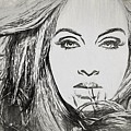 Adele Charcoal Sketch by Dan Sproul