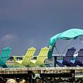 Adirondack Chairs At Coyaba Mahoe Bay Jamaica. by John Edwards