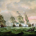 Admiral Sir Edward Hawke Defeating Admiral De Conflans In The Bay Of Biscay by Thomas Luny