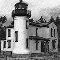 Admiralty Head Lighthouse Sketched by Kirt Tisdale